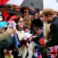 Le prince Harry à la rencontre de la foule après la messe de Noël en l'église St Mary Magdalene à Sandringham le 25 décembre 2015.