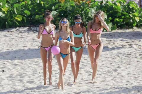 Victoria's Secret : Tournage à la plage pour les Anges