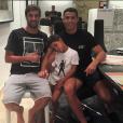 Cristiano Ronaldo avec son fils et ses amis - Photo publiée le 27 septembre 2015