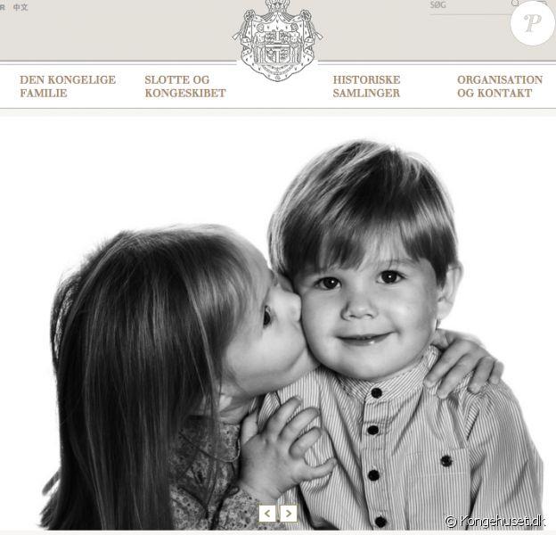 La princesse Josephine et le prince Vincent de Danemark sur l'un des portraits officiels diffusés par la cour danoise pour leur 5e anniversaire le 8 janvier 2016.