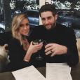 Kristin Cavallari et son mari Jay Cutler au restaurant / Photo postée sur le compte Instagram de l'ancienne star de Laguna Beach, au mois de janvier 2016.