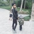 Kristin Cavallari enceinte avec ses deux enfants Jaxon Wyatt et Camden Jack / Photo postée sur le compte Instagram de l'ancienne star de Laguna Beach, au mois d'octobre 2015.