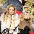 Emilie Nef Naf à Mégève avec une copine, Noël 2015.