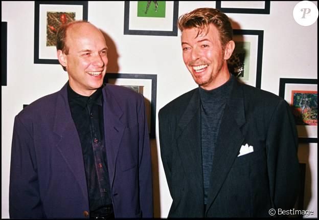 David Bowie et son ami Brian Eno en 1994.
