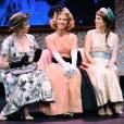 Claire Mirande, Lorie Pester et Cecile Beaudoux lors du filage de la piece 'Pygmalion' au Theatre 14 a Paris, France le 11 Janvier 2016.