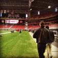 Charlie Whitehurst photographié par son amoureuse, Jewel, en janvier 2016 à Phoenix à l'occasion de la finale de foot américain universitaire. Photo du compte Instagram de Jewel.