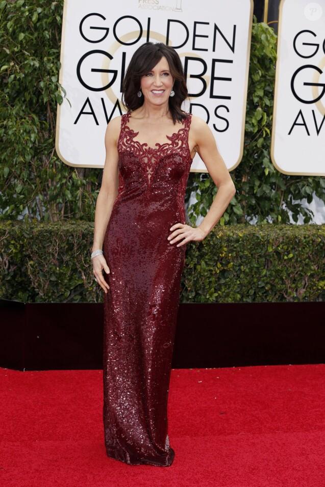 Felicity Huffman - 73e cérémonie annuelle des Golden Globe Awards à Beverly Hills, le 10 janvier 2016. © Olivier Borde/Bestimage
