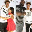 Shareef O'Nea et ses parents, Shaquille O'Neal et Shaunie - Photo publiée le 13 janvier 2016