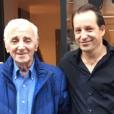Charles Aznavour et son fils Mischa - octobre 2015