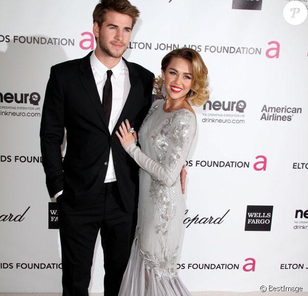 Miley Cyrus et Liam Hemsworthà la 20e cérémonie des Academy Awards, Los Angeles, le 26 février 2012