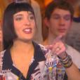 """Erika Moulet, change de coiffure avec sa nouvelle coupe de cheveux dans """"Touche pas à mon poste"""" sur D8, le 21 janvier 2016."""