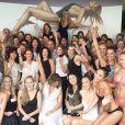 Heidi Klum en Australie fin janvier 2016 présentant sa ligne Heidi Klum Swim, photo Instagram pour la promotion de sa marque de lingerie et de maillots de bain Heidi Klum Intimates.