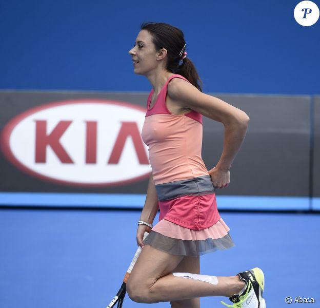 Marion Bartoli lors du tournoi des Légendes durant l'Open d'Australie à Melbourne, le 24 janvier 2016
