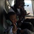 """""""Bafétimbi Gomis et son petite Dione - Photo publiée le 3 juin 2015"""""""