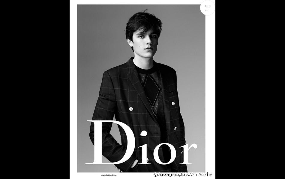 Alain-Fabien Delon, visage de la campagne été 2016 de Dior Homme. Photo par Willy Vanderperre.