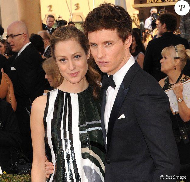 """Eddie Redmayne et sa femme Hannah Bagshawe enceinte lors des 22e """"Annual Screen Actors Guild Awards"""" à Los Angeles le 30 janvier 2016"""