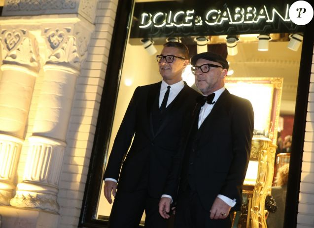 """Stefano Gabbana et Domenico Dolce assistent à la soirée """"We Love Moscow"""" d'ouverture d'une nouvelle boutique Dolce & Gabbana à Moscou, le 29 octobre 2015."""