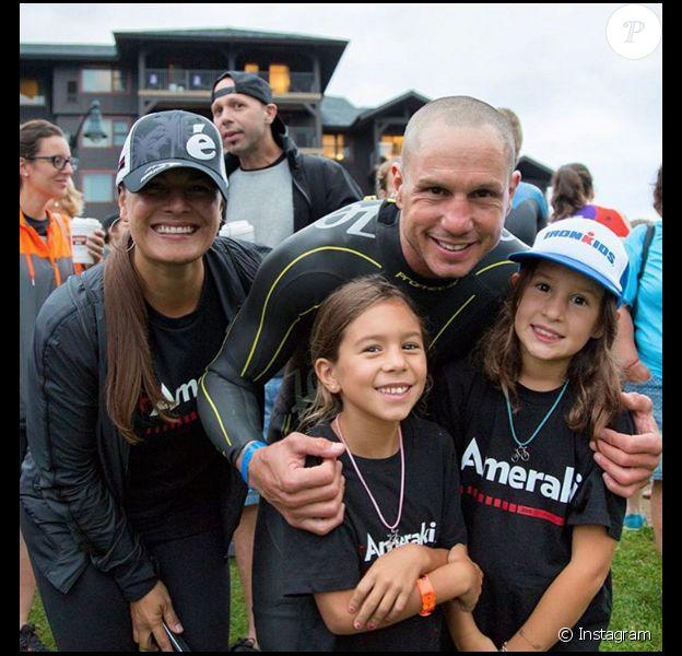 Dave Mirra, la légende du BMX, avec ses deux filles et sa femme. Il est décédé le 4 février 2016 à 41 ans.