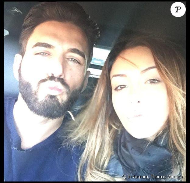 Thomas Vergara et Nabilla le 5 février 2016.