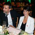 Alessandra Sublet et son mari Clément - Diner de la mode pour le Sidaction au Pavillon d'Armenonville à Paris, le 23 janvier 2014.