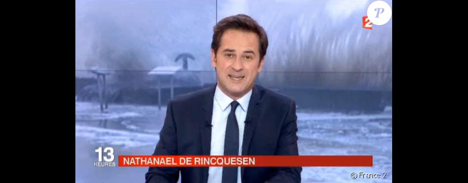 nathanal de rincquesen aux commandes du jt de france 2 13h00 le lundi 8 fvrier 2016 - Nathanael De Rincquesen Mariage