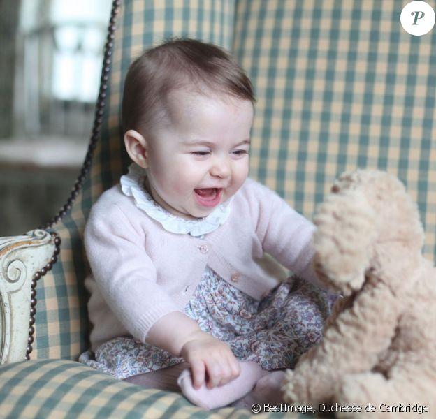 La princesse Charlotte de Cambridge photographiée pour ses 6 mois par sa mère Kate Middleton, à Anmer Hall à Sandringham, en novembre 2015. © La duchesse de Cambridge via Bestimage