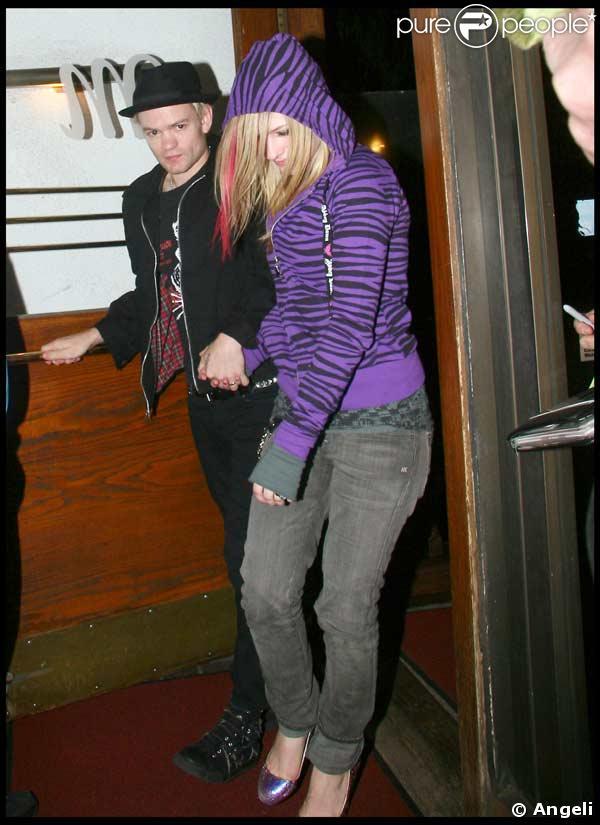 avril lavigne deryck whibley. Avril Lavigne et son mari