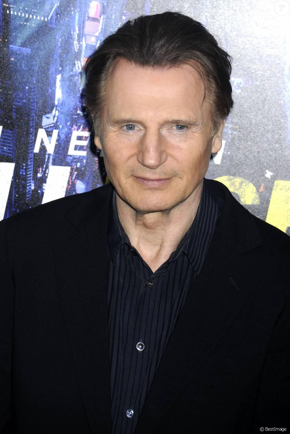 Liam Neeson - Première du film Night Run à New York. le 9 ...