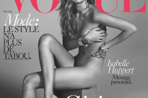 Gigi Hadid : Canon en tenue d'Eve pour Vogue Paris