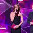 Virginie Guilhaume et Bruno Guillon - Victoires de la musique au Zénith de Paris, le 12 février 2016.