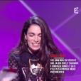 Yael Naim est sacrée artiste féminine de l'année - Victoires de la musique au Zénith de Paris, le 12 février 2016.