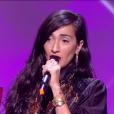 """Hindi Zahra, Victoire de musiques du monde de l'année pour """"Homeland"""" - Victoires de la musique au Zénith de Paris, le 12 février 2016."""