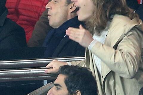 PSG-Lille : Nicolas et Pierre Sarkozy vibrent devant Ary Abittan et sa fille