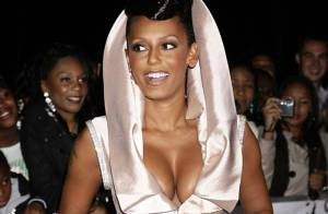REPORTAGE PHOTOS : Mel B et sa robe... attention les yeux !