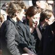 Elise Ventre, maman de la petite Louise, aux obsèques de Guillaume Depardieu