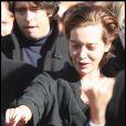 Elise Ventre aux obsèques de Guillaume Depardieu