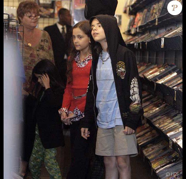 Michael Jackson et ses enfants Prince Michael 1, Prince Michael 2 et Paris