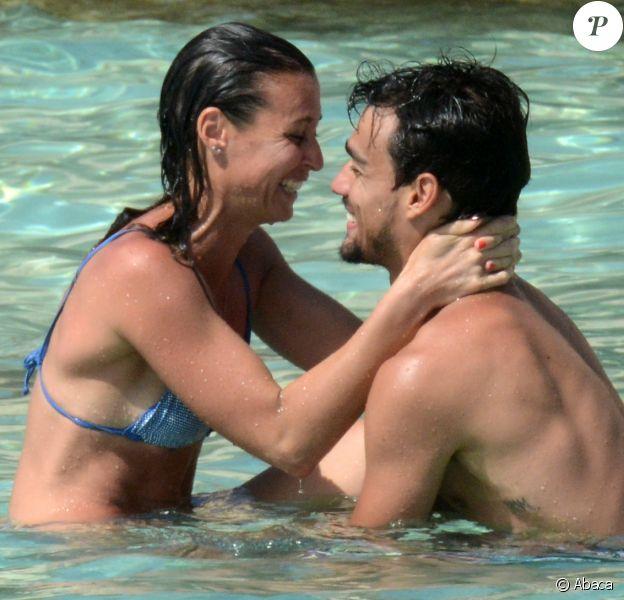 Flavia Pennetta et Fabio Fognini en vacances à Ibiza le 9 juin 2014. Le couple célébrera son mariage dans les Pouilles le 11 juin 2016.