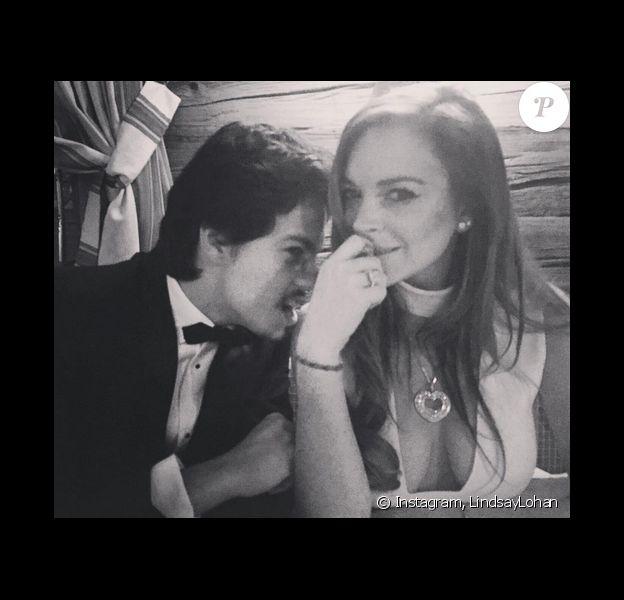 Lindsay Lohan et son amoureux Egor Tarabasov. Photo publiée sur Instagram au mois de février 2016.