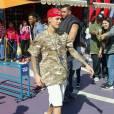Exclusif - Justin Bieber passe la journée chez Universal Studio le 18 février 2016.