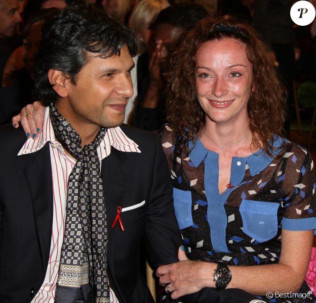 Florence Cassez et son mari Fausto lors du mariage du conseiller régional PS Jean-Luc Romero et Christophe Michel à la mairie du 12e par le maire de Paris. Le 27 septembre 2013
