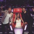 Jenifer entourée de M. Pokora et Patrick Fiori pour The Voice Kids