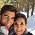 Enzo Zidane et sa maman Véronique lors d'un séjour à la montagne. Photo publiée sur Instagram, le 14 mars 2016.