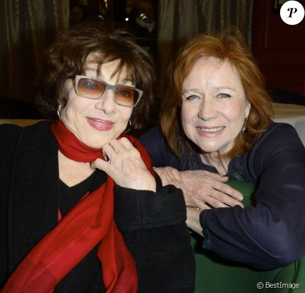 Judith Magre et Eva Darlan à la Première édition du prix Régine Deforges au restaurant Macéo à Paris le 14 mars 2016. © Coadic Guirec/Bestimage