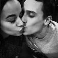 Alizée et Grégoire Lyonnet, amoureux, lors de leur Saint-Valentin 2016.