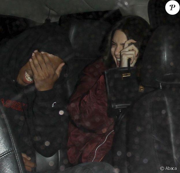 """Kendall Jenner et Jordan Clarkson à la sortie du club """"The Nice Guy"""", Los Angeles, le 30 mars 2016"""