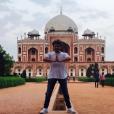Kev Adams sur le tournage du film Number One en Inde. Photo publiée sur Instagram, le 7 avril 2016.