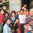 Kev Adams au Népal pour le tournage de son prochain film, Number One. Photo publiée sur Instagram, au début du mois d'avril 2016.