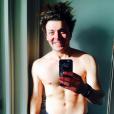 Kev Adams à Chamonix pour le tournage de son prochain film, Number One. Photo publiée sur Instagram, au mois de mars 2016.