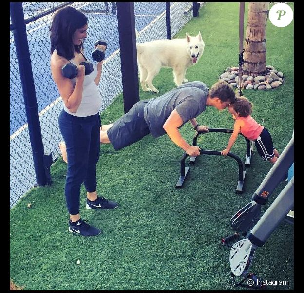 Daniela Ruah, enceinte, sur Instagram. 18 avril 2016